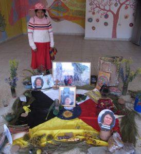 a lenca altar for berta caceres with maya influences
