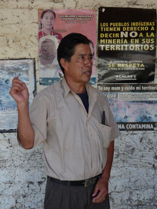 indigenous mam fighting mina marlin in Guatemala, 2011