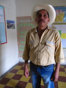 Antionio Arias, the coordinator of the Maya Chorti organization CONADIMCHH