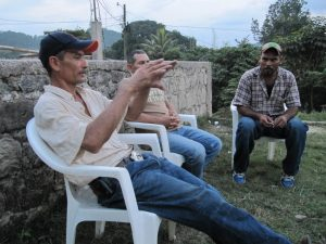 Talking with the men in El Quebracho