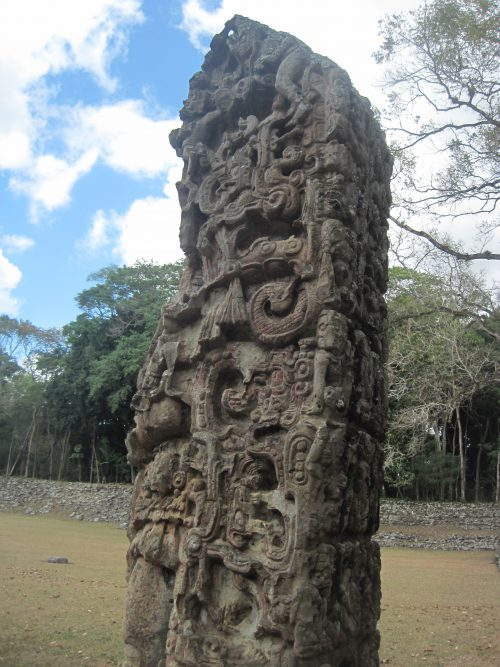 the famous stelae of Copán
