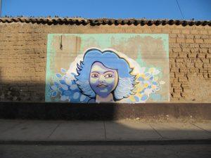 Muurschildering van Berta in La Esperanza
